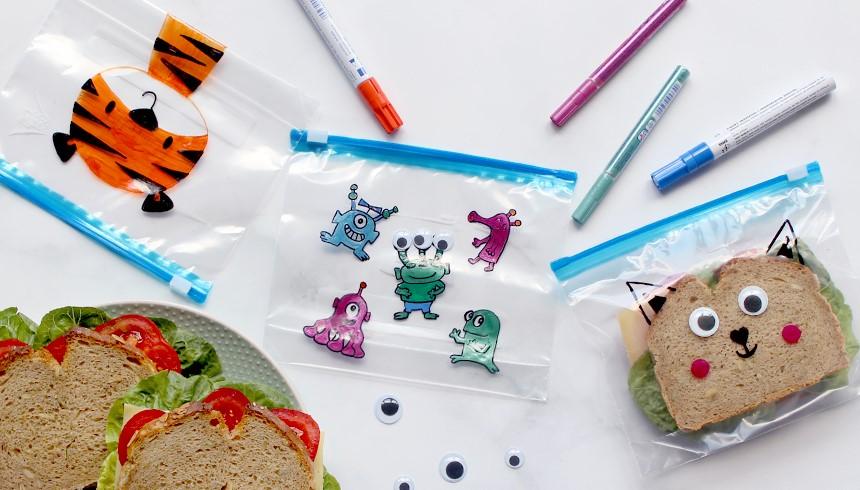 Kleurrijke Toppits® Zipper® zakjes voor een kleurrijke pauze