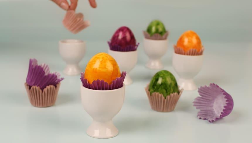 Kleuraccenten op de ontbijttafel met Flower Mini Muffins