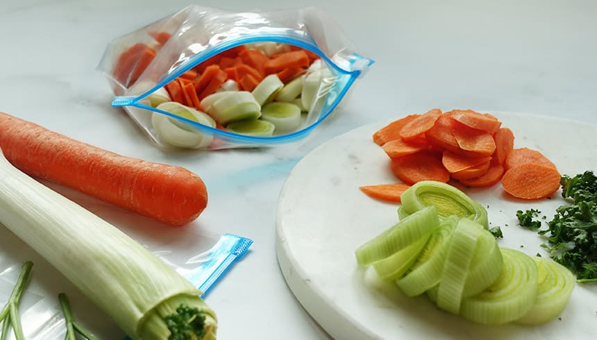 Verse groenten in Zipper® allround zakjes