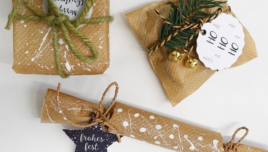 Eenvoudig en mooi: Cadeautjes ingepakt met bakpapier