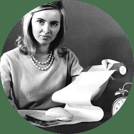 Vrouw met het eerste boterhampapier