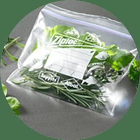 Ziploc® diepvrieszakje met salade
