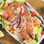 Verse vis op een bedje van groenten